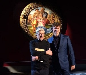 Alberto Angela con Giancarlo Giannini