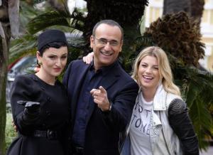 Sanremo: Emma e Arisa al fianco di Carlo Conti